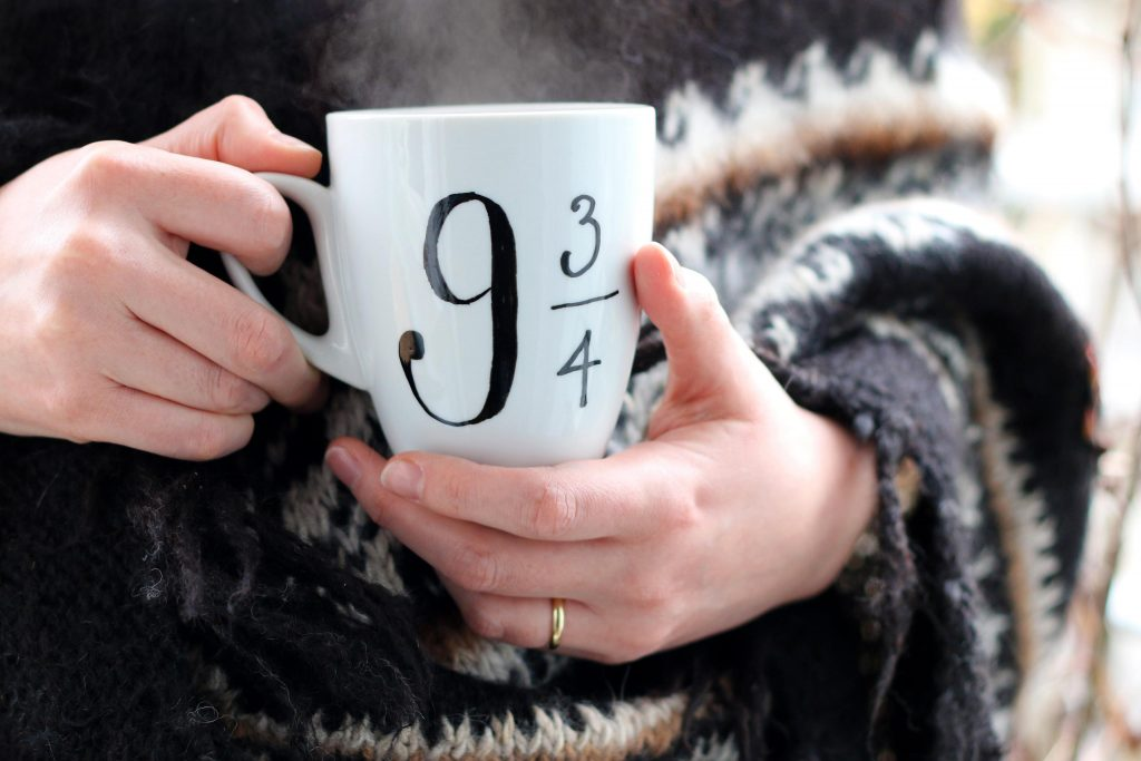 Custom Platform Nine and Three Quarters mug from Carla